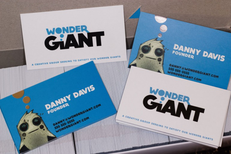 Wonder Giant Business Card 2013